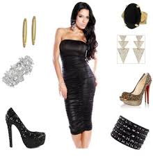 black cocktail dress accessories pictures reference