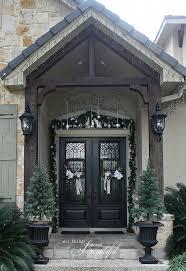 porch and front door garland diy hometalk