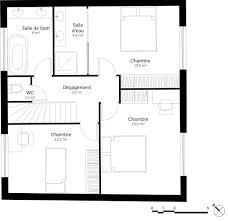 plan maison simple 3 chambres maison avec terrasse a l etage