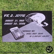 grave marker a unique memorial for a trek fan beam me up scottie