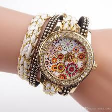 quartz diamond bracelet images Hot lady womens watches diamond bracelet watches floral quartz jpg