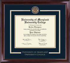 college diploma frame of maryland college showcase edition diploma