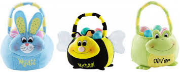 plush easter basket personalized plush easter baskets only 9 47