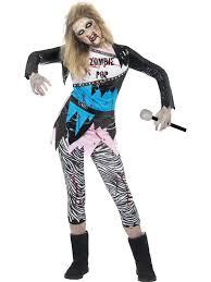 Kids Zombie Costume Girls U0027 Teen Zombie Pop Star Halloween Costume Zombie Costumes