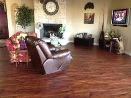 brown wooden tranquility vinyl plank flooring matched with