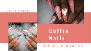coffin nails best coffin nail art for summer 2017 youtube