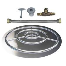 Natural Gas Fire Pit Kit 18 U0026 034 24 U0026 034 30 U0026 034 36 U0026 034 Stainless Steel Burner Pan
