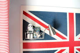 Distress Flag Upside Down Diy Union Jack Pegboard Headboard Our Fifth House