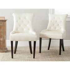 safavieh en vogue dining abby leather nailhead dining chairs set