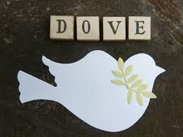 100 die cut dove bird craft paper wedding baptism anniversary