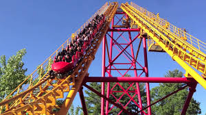 Six Flags Nyc Boomerang Roller Coaster At Great Escape Lake George Youtube
