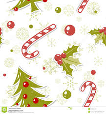 seamless pattern with cute cartoon christmas tree royalty free