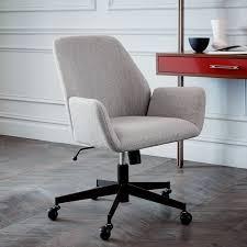 white upholstered office chair aluna upholstered office chair elm