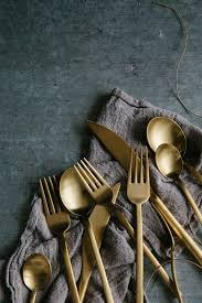 Unique Flatware Sets Impress At Any Dinner Occasion With Brass Cutlery For A Stand Out