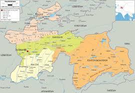 Asia Political Map Detailed Clear Large Map Of Tajikistan Ezilon Maps