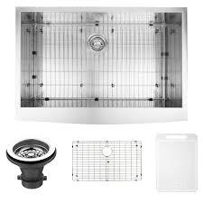 Vigo Kitchen Sink Vigo Vg3620ck1 36 Farmhouse Stainless Steel Kitchen Sink With Grid