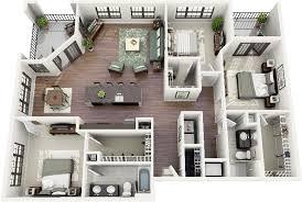 apartment 3 bedroom 50 three 3 bedroom apartment house plans open floor 3d and bedrooms
