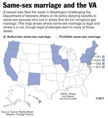 Marriage Equality Map World by New Va Policy On Same Marriage Benefits Triggers Lawsuit