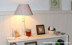 shabby chic lamp athomeincornwall