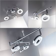 Lampen Wohnzimmer Led Led Deckenleuchte Schwenkbar Inkl 6 X 4w Leuchtmittel 230v Ip20