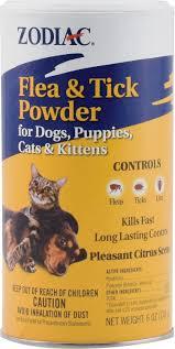 zodiac flea u0026 tick powder for dogs puppies cats u0026 kittens 6 oz