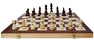 chess armory 15 u2033 wooden chess set with felted game board interior