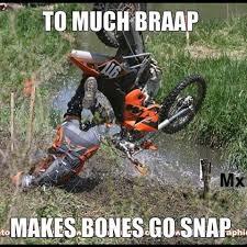 Bike Crash Meme - too much braap