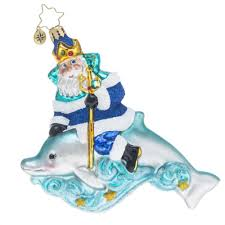 radko king of the sea neptune dolphin ornament christopher