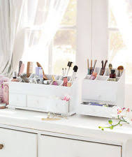 Hair And Makeup Organizer Wooden Beauty Organizer Ebay