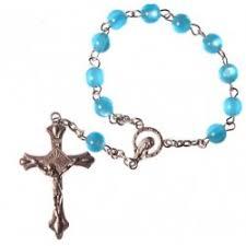 single decade rosary blue one decade rosary bead