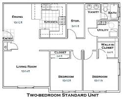 Two Bedroom Floor Plans 2 Bedroom House Plans 1000 Square Feet 781 Square Feet 2