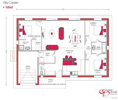 plan de maison 100m2 3 chambres couleur villas vous propose des plans de maison moderne et