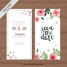 wedding invitations freepik watercolor roses wedding invitation vector free