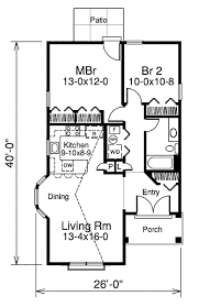 cottage style house plan 2 beds 1 baths 882 sq ft plan 57 380