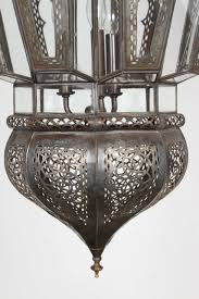 pair of moroccan vintage hanging glass light fixtures for sale at
