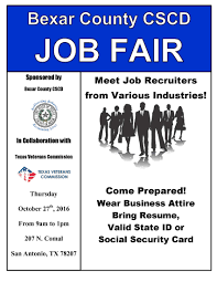 Job Fair Resume by Bexar County Tx Official Website