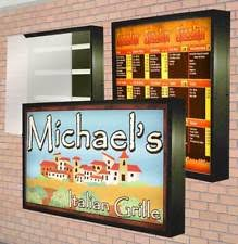 outdoor lighted sign ebay