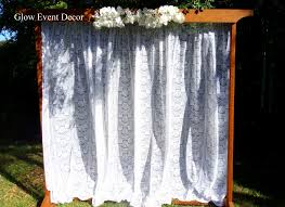 wedding arch lace ceremony arches accessories glow event decor