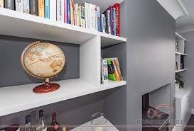 tom maxwell furniture white alcove fitted bookshelves bevan