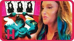 jenner hair extensions caitlyn jenner rocks s bellami hair extensions hollyscoop