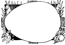 clipart easter egg frame