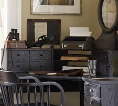 pottery barn desk with hutch printer s corner desk hutch potterybarn home furnishings