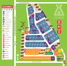 Kissimmee Florida Map by Kissimmee Florida Campground Orlando Kissimmee Koa