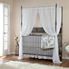sumptuous white curtains for crib shade in modern baby room ideas