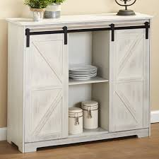 barn door for kitchen cabinets distressed sideboard buffet cabinet with sliding rail barn doors