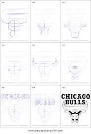 printable bulls schedule how to draw chicago bulls logo printable step by step drawing sheet