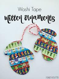 washi mitten ornaments