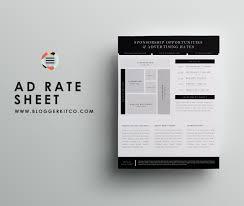 blog sponsorship set proposal letter template ad rate sheet