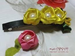 ribbon hair clip wonderful diy ribbon hair clip with peal