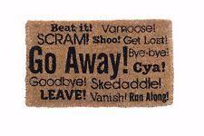 Doormat Leave Go Away Door Mat Ebay